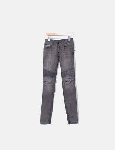 Jeans denim rockstar gris