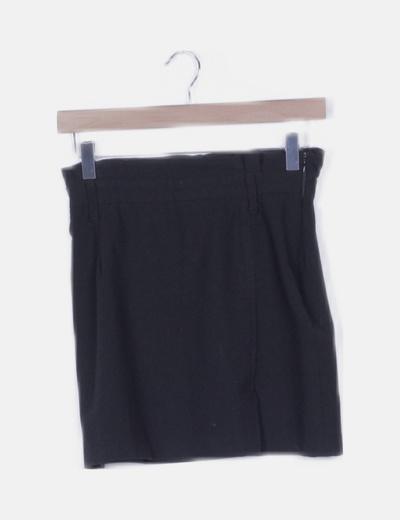 Falda paper bag negra