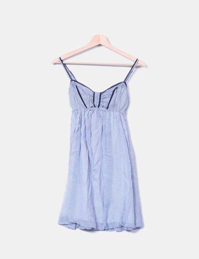Vestidos de rayas azules y blancas