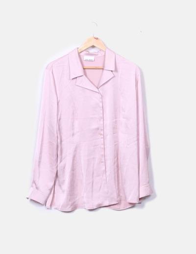 Camisa satén rosa