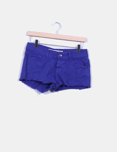Short denim azul klein Zara