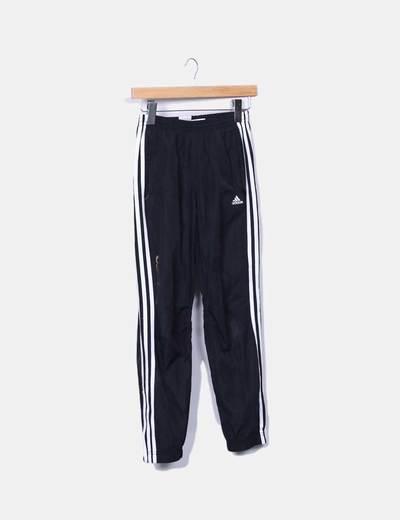 Pantalons noirs de survêtement Adidas