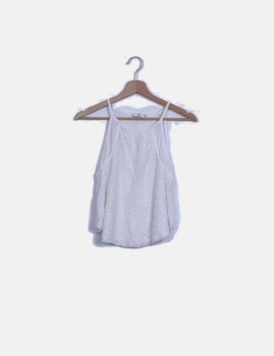 Camiseta blanca cominada