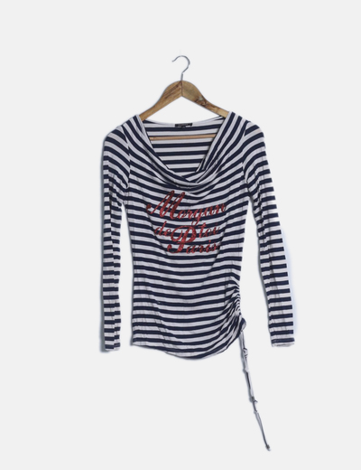 Camiseta navy estampada