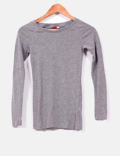 Camiseta gris manga larga H&M