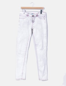 Jeans gasto com bolsos bordados Custo Barcelona 5d259047f46c4