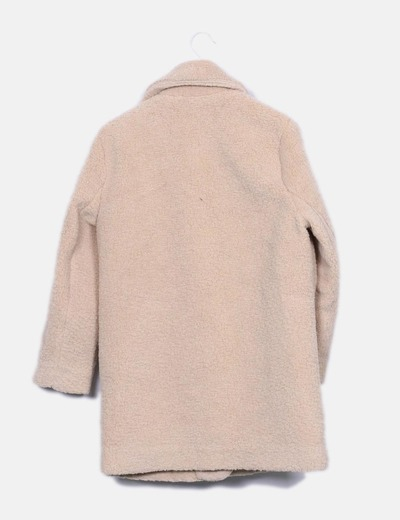 Abrigo punto beige pelo