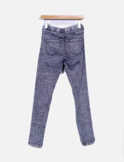 Jeans grises desgastados high waist