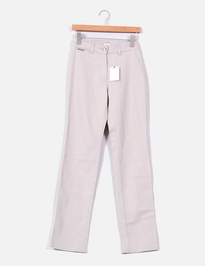Pantalón beige recto Calvin Klein