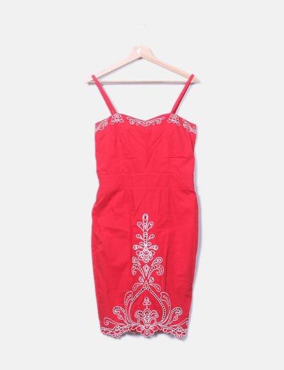 Vestido tirantes rojo Suiteblanco