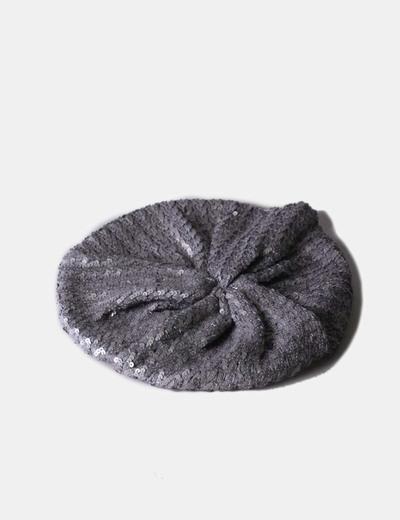 Boina gris con pailettes NoName