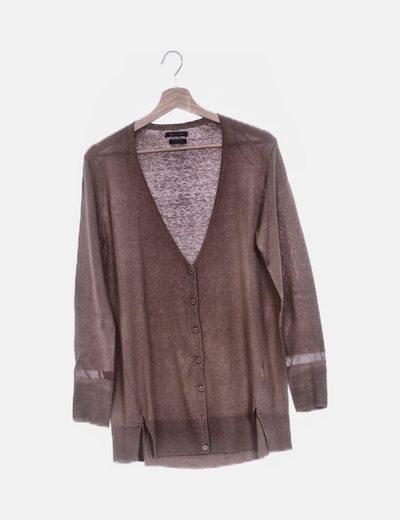 Chaqueta tricot marrón
