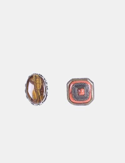Conjunto 2 anillos gran esfera NoName