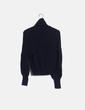 Jersey tricot azul cuello vuelto Tara Jarmon