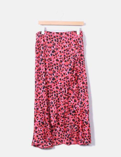 Maxi falda print animal