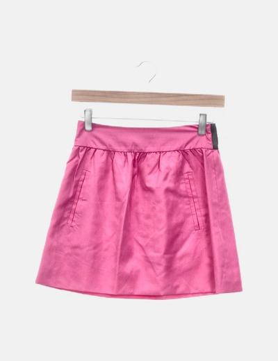 Falda rosa con bolsillos