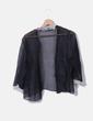 Camisa negra semitransparente volantes NoName