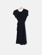 Vestido midi negro Estudio Erre