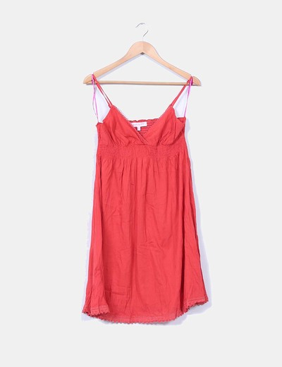 Vestido rojo de tirantes Peace And Love