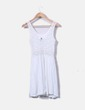 Vestido blanco con encaje H&M