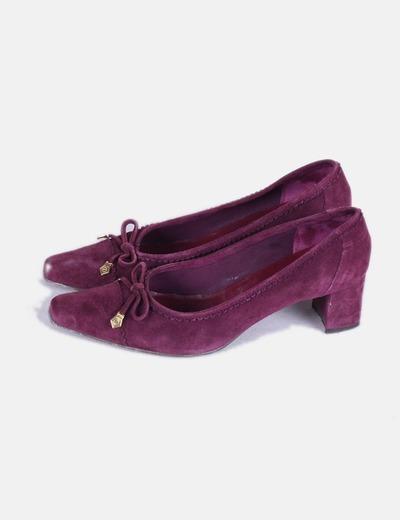 Zapatos terciopelo morado GATSBY