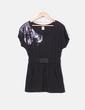 Vestido negro cintura elástica con lentejuelas glitter Pull&Bear