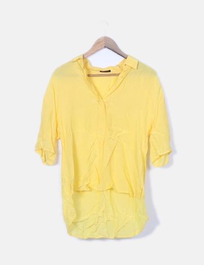 Blusa fluida amarillo