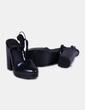 Zapatos de tacón ancho negros Zara