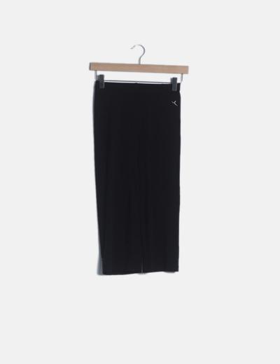 Pantalón deportivo negro culotte