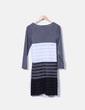 Vestido gris combinado NoName