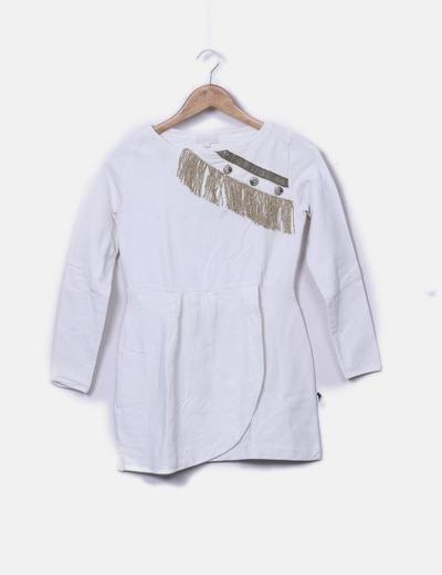Vestido blanco flecos glitter As by strena