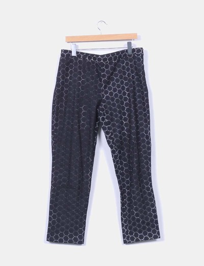 Pantalon negro de crochet