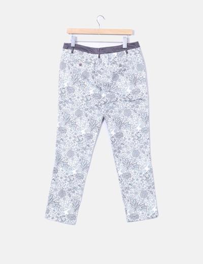 Pantalon chino estampado