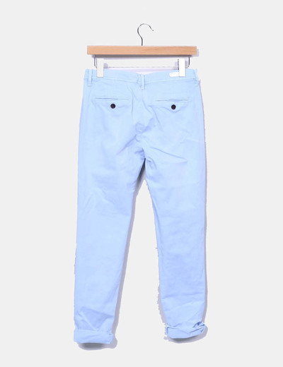 Pantalon chino azul claro