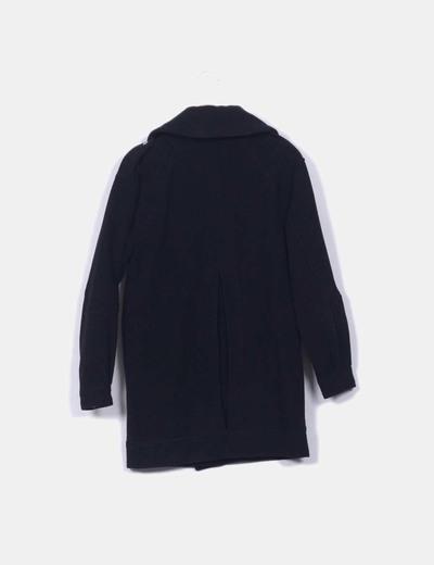 Abrigo negro de lana