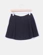 Mini falda negra de ante con tablas See U Soon