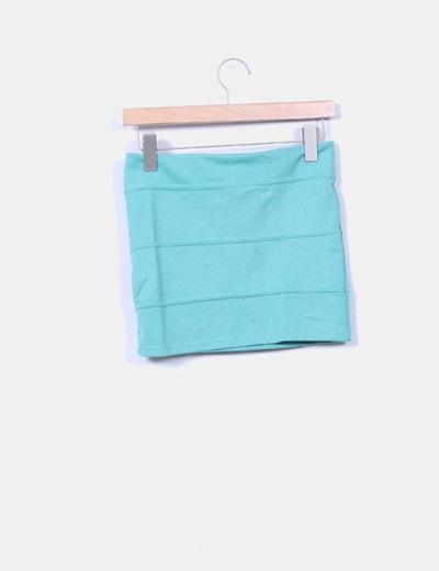 Falda mini turquesa
