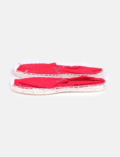 Alpargata de tela roja NoName