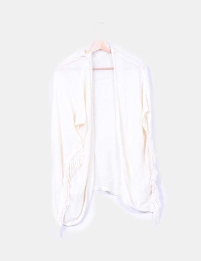 Kimono crudo con flecos Shana