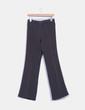 Pantalón azul rayas beige Musgo