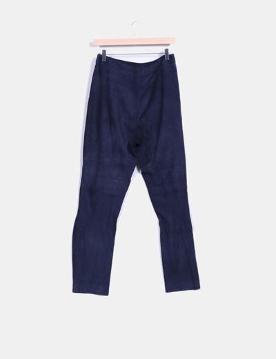 Pantalon azul marino de ante