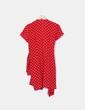 Chaqueta de manga corta roja con motas blancas Gerard Darel