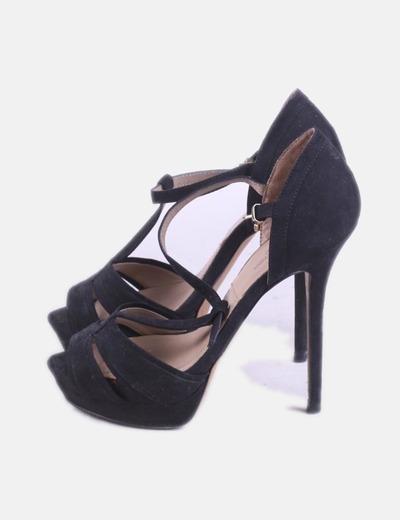 a7855a9f Zara Sandalia de tacón negra (descuento 78%) - Micolet