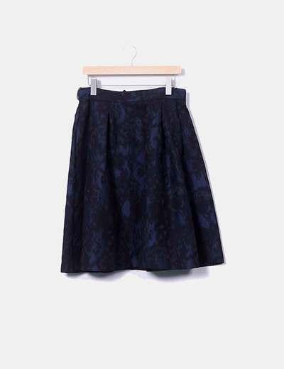 Falda bicolor pinza