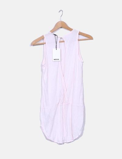 Camiseta rosa larga manga sisa