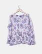 Pull blanc imprimé tricot Asos