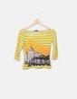Camiseta de rayas amarilla combinada Custo Barcelona