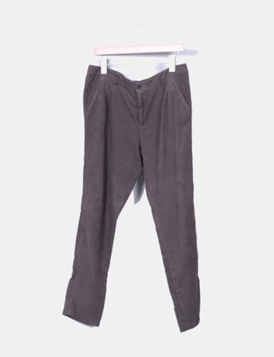 Pantalón de pana verde Zara