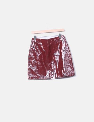 Falda roja glossy
