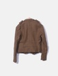 Blazer tricot camel abotonada Zara